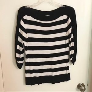 New York & Co. Striped Boat Neck Sweater